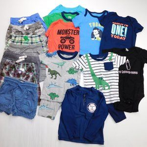 16 pc Baby Boys 12 Months Summer Clothing Lot